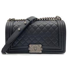 0058c2a2e3d1 Chanel Boy Ruthenium Finish Medium Quilted Black Leather Cross Body Bag -  Tradesy