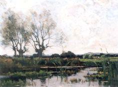 Theophile Emile Achille de Bock (Den Haag 1851-1904 Haarlem) Polderlandschap - Kunsthandel Simonis en Buunk, Ede (Nederland).