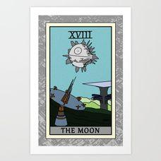 The Moon - Tarot Card Art Print