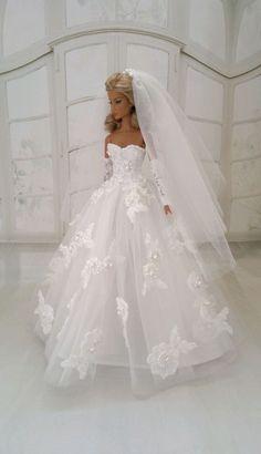 """WEDDING DRESS for dolls 12"""" Fashion Royalty/Giselle, Imogen, Eden, Monogram"""