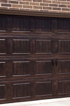 1000 images about garage doors on pinterest wood garage for Paint garage door to look like wood