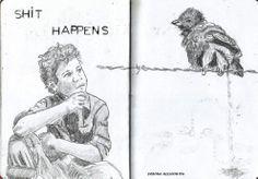 just a sketch in my sketchbook pencil on paper