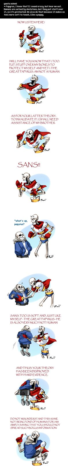 Undertale ask blog: MISINFORMATION ||| Sans and Papyrus ||| Undertale Fan Art by bPAVLICA on DeviantArt