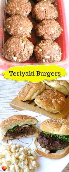 Delicious teriyaki burgers local style recipe. Delicious with a scoop of macaroni salad. Get more island style recipes here.