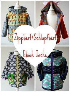 Ebook Jacke Zippbert / Schlupfbert von DinoVanSaurier auf DaWanda.com