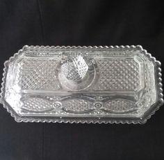 Avon Clear Glass Cape Cod 1876 Butter Dish Ultimate Collector Piece Rare Rare 1