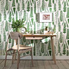 Ferns by Scion - Juniper - Wallpaper : Wallpaper Direct
