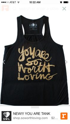"Our featured store of the day is @So Worth Loving. Their manifesto is so inspiring - check it out on www.soworthloving.com. ""We live our life knowing we have worth."""