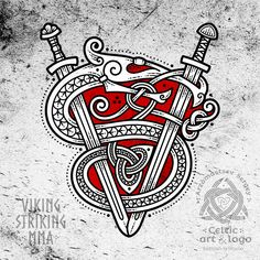 Art-Monogram - V.S 🐍⚔️ (the letter V-form two crossed Scandinavian swords, S-the serpent weaving the whole composition) for Universal Fitness and MMA in Arizona 🤘🔥🍀 такая штука получилась в итоге 😊 Norse Tattoo, Celtic Tattoos, Viking Tattoos, Viking Sword Tattoo, Irish Tattoos, Warrior Tattoos, Tattoo Symbols, Neue Tattoos, Body Art Tattoos