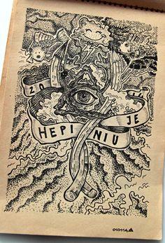 Ink   Fineliner Sketchbook by Małgorzata Wolska, via Behance