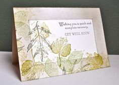 Stampin' Up ideas and supplies from Vicky at Crafting Clare's Paper Moments: Masculine Monday with French Foliage