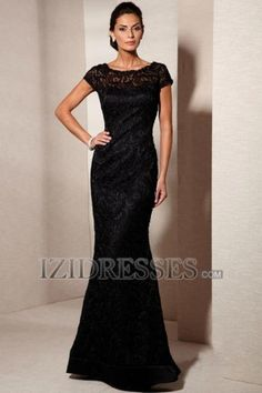 --like--Sheath/Column High neck Lace Mother of the Bride Dresses - IZIDRESSES.COM