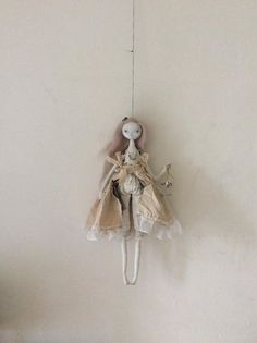 Large artdoll pale ghost lady with cadged owl... Sasha