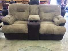 Dual recliner loveseat with console- $699 #furniture #mk #consignment #loveseat #sofa #couch #new #forsale #home #house #apartment