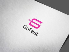 This is a Go Fast Logo template. It can be used as app icon or branding identity. It stands out and instantly recognisable. The logo looks great on white and Fast Logo, Brand Identity, Branding, Business Company, Modern Logo Design, Letterhead, Company Names, App Icon, Logo Templates