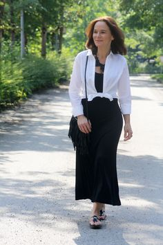 Casual black maxi dress | Lady of Style
