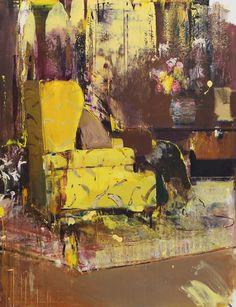 """Adrian Ghenie, """"Pie Fight Interior"""", 2012, Oil on canvas, 209 x 160 cm,"""