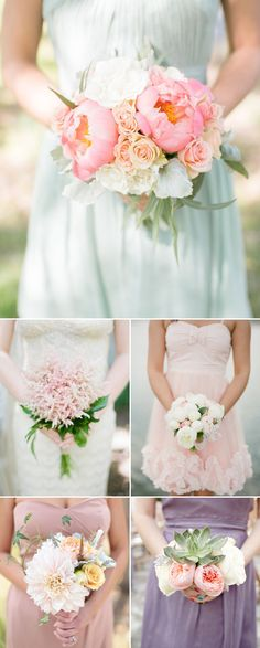 Modern brides want their bridal bouquet to stand out and shine, but they also want their bridesmaids' bouquets to be lovely and unique. Traditionally, bridesmaid bouquets are simply a smaller version of the bridal bouquet. In recent years, new trends appeared drawing more creative attention on the variety of floral designs available for bridesmaids. Here …