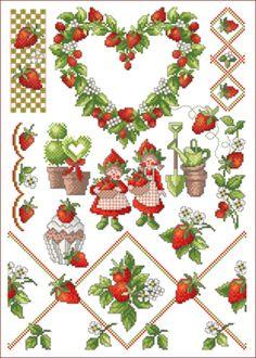 Lindner's kreuzstiche - Erdbeerzeit