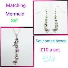 Mermaid jewellery set Jewelry Gifts, Jewellery, Mermaid Jewelry, Personalized Items, Jewels, Jewelry Shop, Schmuck, Jewelery
