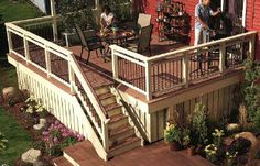 Inset Stairs For Deck Backyard Working Inspiration