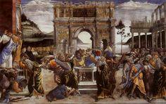 Sandro Botticelli, Conturbation of the Laws of Moses (The Punishment of Korah) Roma, Sistine