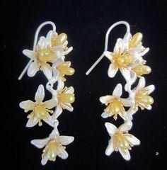 Michael Michaud Silver Seasons Orange Blossoms Shower Wire Earrings | eBay