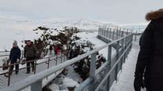 Separated tectonic plates in Iceland that those with an interest in geography can describe much better than I can.