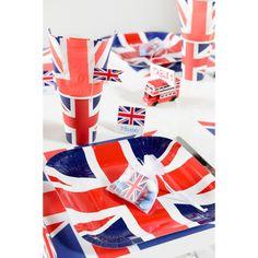 20 X Union Jack Assiettes en Papier Mariage Royal Jubilee vaisselle Street Party