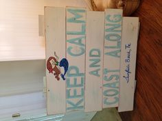Pallet art for our beach house distressed