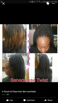 Senegalese Twist Crochet  CALL 601-946-5161 for appointments