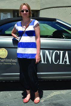 Elena Bouryka al suo arrivo a Taormina per il   Film Fest 2013.