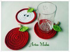 Luciana Ponzo Criações em Crochê: Paixão por coasters de crochê