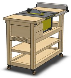 Pin on Table saw station Pin on Table saw station Woodworking Tool Kit, Youtube Woodworking, Woodworking Workshop, Teds Woodworking, Workbench Plans Diy, Table Saw Workbench, Power Tool Storage, Garden Tool Storage, Fabrication Table