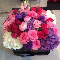//roses & hydrangeas #flowers More