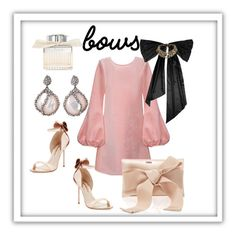 """#BOWS"" by oliviaroche ❤ liked on Polyvore featuring Sophia Webster, Cynthia Rowley, Oscar de la Renta, De Buman and Chloé"