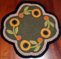 Flower penny rug