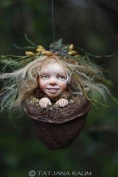 Pixie Mädchen Nicka handgemachte Dekoration Wichtelkind von chopoli