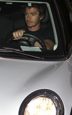 The Facebook Movie and Amazing Spiderman star, Andrew Garfield, caught driving his Mini Cooper