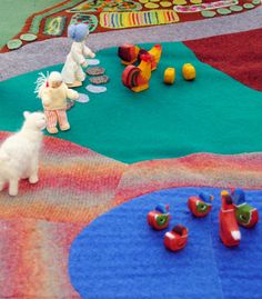 Farm+Playmat+Eco+Friendly+Wool+Playscape+by+WildMarigold+on+Etsy,+$65.00