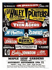 AP658E - Bill Haley, Rock n Roll Concert Poster, 1950s (30x40cm Art Print)