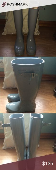 Hunter Original Tall Gloss rain boots! worn only a few times, in super great condition!  US size 8. Only selling because I need the money and it doesn't rain very much where I go to school Hunter Boots Shoes Winter & Rain Boots