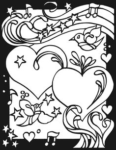 Page 2, Heart to Heart Stained Glass Coloring Book by Dover Publishing