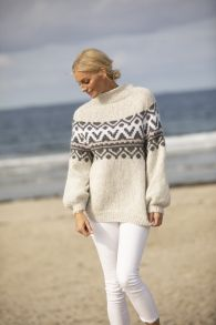 Bluse strikkekit til damer - mere end 1000 strikkekits - Dags til dag levering Viking Designs, Baby Alpaca, Pullover, Knitting, Knits, Sweaters, Fashion, Dots, Threading
