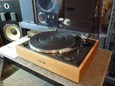 1974 Pioneer PL-12D restored condition with real wood Red Oak veneer base