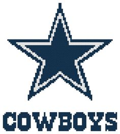 Counted Cross Stitch Pattern, Dallas Cowboys Logo, Instant Download, PDF Pattern, Hand Designed by Dreamy Memories