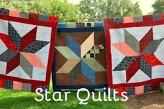 3 Star Quilts! - Pink Polka Dot Creations