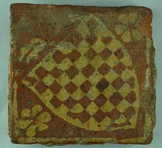 Medieval Floor Tile from Ulverscroft priory, Leicestershire, with heraldic pattern of the Warren family, who built Conisborough Castle near Sheffield.