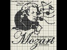 musique - music - mozart - point de croix - cross stitch - Blog : http://broderiemimie44.canalblog.com/