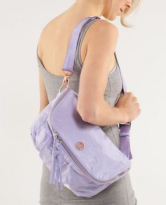 I want this Good Fortune Bag from Lululemon... I just love this lilac colour so much.